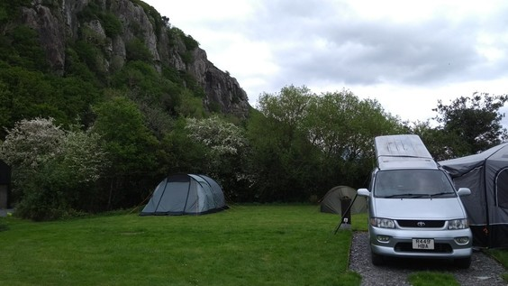 camping and campervan field